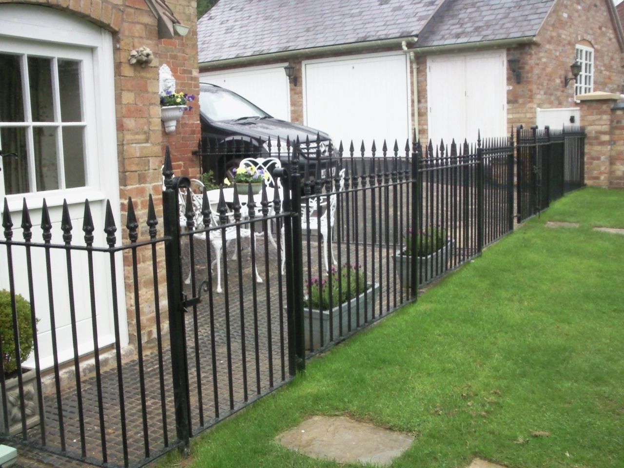 Wrought iron railings ironwork balustrading